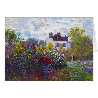 Cartão O jardim de Monet em Argenteuil Claude Monet