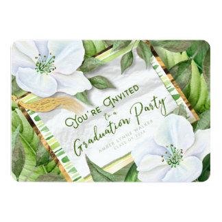 Cartão O jardim esverdeia a festa de formatura que a