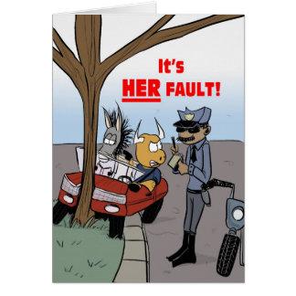 Cartão O jogo da culpa