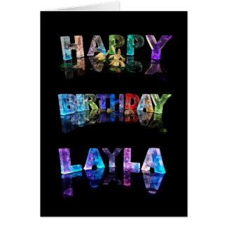 Cartão O Layla conhecido em 3D ilumina-se (a fotografia)