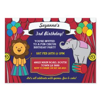 Cartão O leão da festa de aniversário do carnaval do