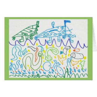 Cartão O mar