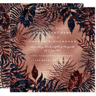 Cartão O marinho tropical da cerceta do cobre da grinalda