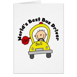 Cartão O melhor condutor de autocarro