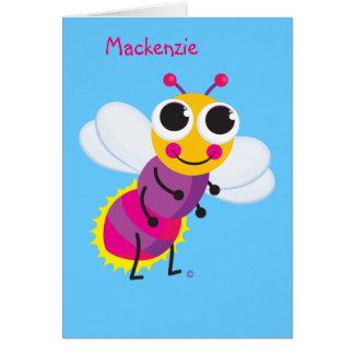 Cartão O melhor design & o Notecard do inseto de
