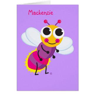 Cartão O melhores design do inseto de relâmpago da vida &