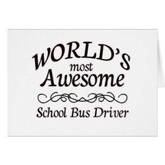 Cartão O motorista de auto escolar o mais impressionante