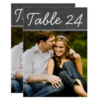 Cartão O número da mesa da foto do casamento carda o