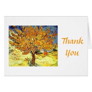 Cartão O obrigado da árvore de Mulberry você cartão.
