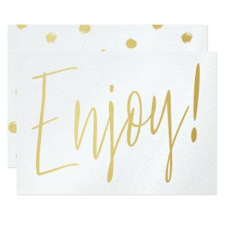 """Cartão O ouro simples da caligrafia """"aprecia """""""