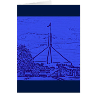 Cartão O parlamento australiano - Canberra