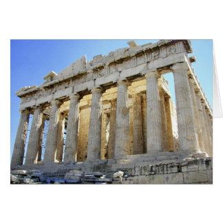 Cartão O Partenon na acrópole