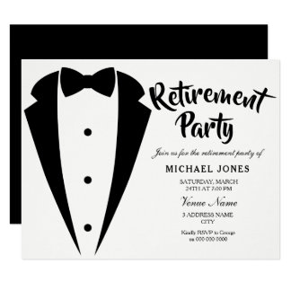 Cartão O partido de aposentadoria do escritório do