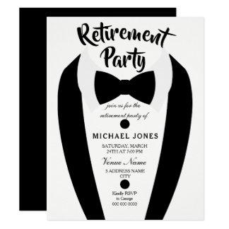 Cartão O partido de aposentadoria preto do laço do