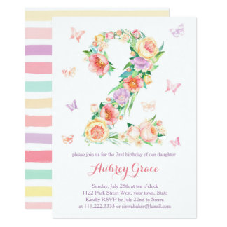 Cartão O partido de jardim da borboleta do segundo
