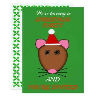 Cartão O partido feito sob encomenda do rato do Feliz