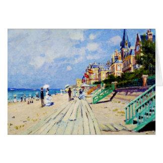 Cartão O passeio à beira mar em Trouville Claude Monet