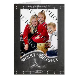 Cartão O quadro pode seu Natal da foto do feriado