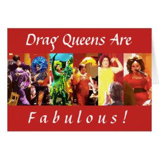 Cartão O Queens de arrasto é fabuloso!