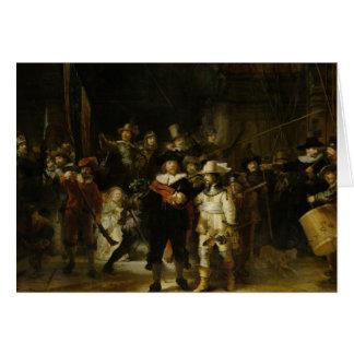 Cartão O relógio de noite, Rembrandt Van Rijn