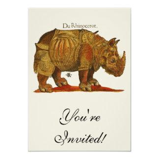 Cartão O rinoceronte de Durer