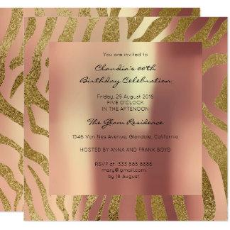 Cartão O rosa da pele animal do safari da zebra perolado