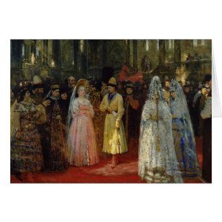 Cartão O Tsar que escolhe uma noiva, c.1886