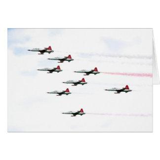 Cartão O turco Stars a equipe Aerobatic