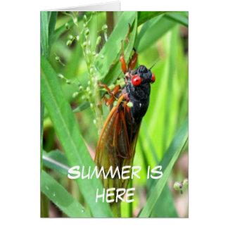 Cartão O verão está aqui