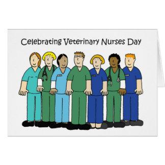 Cartão O veterinário nutre o dia