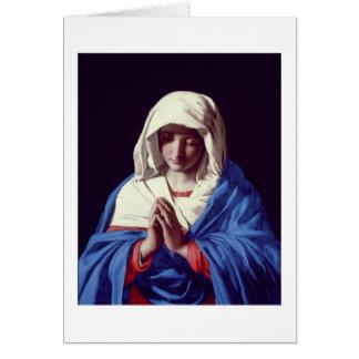 Cartão O Virgin na oração, 1640-50 (óleo em canvas)
