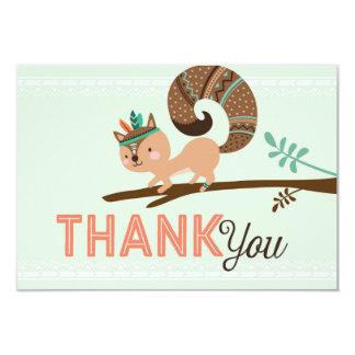 Cartão Obrigado africano do nativo americano indiano você
