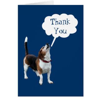 Cartão Obrigado bonito de urro do cão do lebreiro você