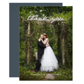 Cartão Obrigado bonito do casamento do jardim do vintage