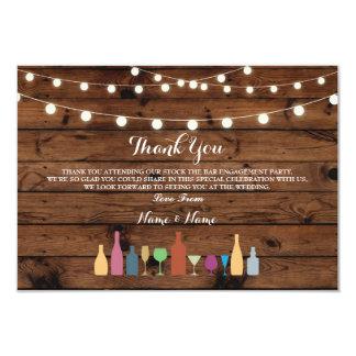 Cartão Obrigado carda o estoque que o bar ilumina as