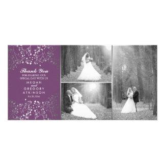 Cartão Obrigado da foto do casamento da respiração do