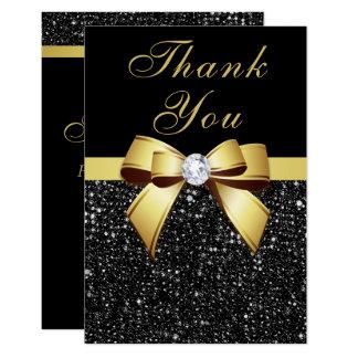 Cartão Obrigado da graduação você enegrece o arco do ouro