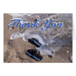 Cartão Obrigado das sandálias do falhanço de sacudir da