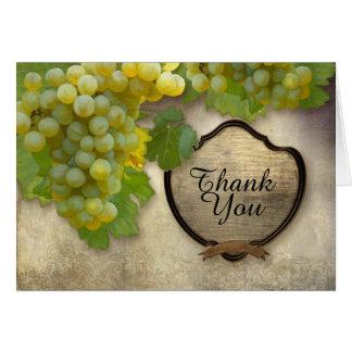 Cartão Obrigado de harmonização você nota a uva de