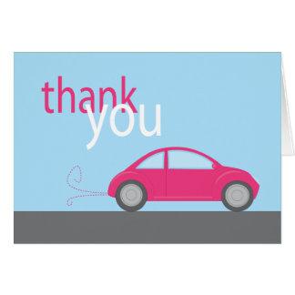Cartão obrigado do carro você