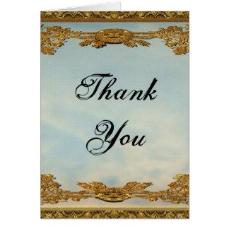 Cartão Obrigado do casamento do conto de fadas você