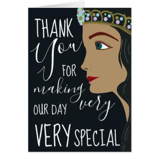 Cartão Obrigado do chá de fraldas da princesa Azul você