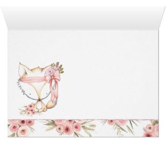 Cartão Obrigado do chá de fraldas do Fox da menina você