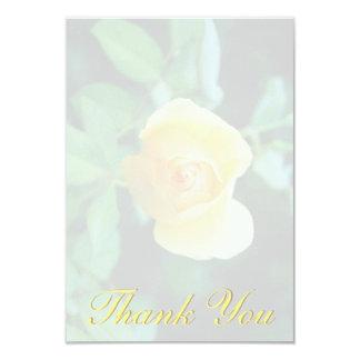 Cartão Obrigado do rosa amarelo você
