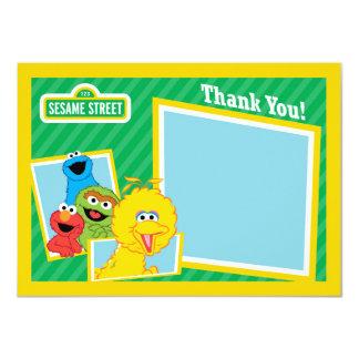 Cartão Obrigado dos amigos do Sesame Street você