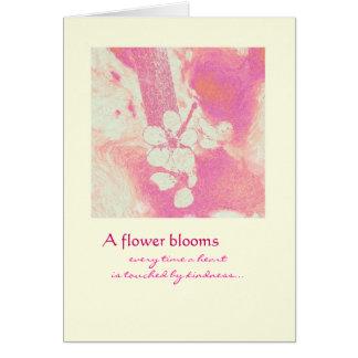 Cartão Obrigado - flores da flor
