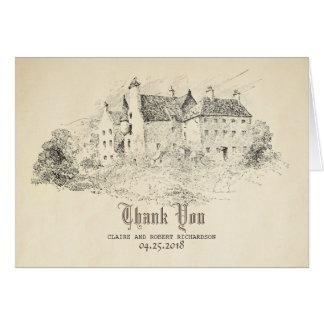 Cartão Obrigado idoso do casamento do conto de fadas do