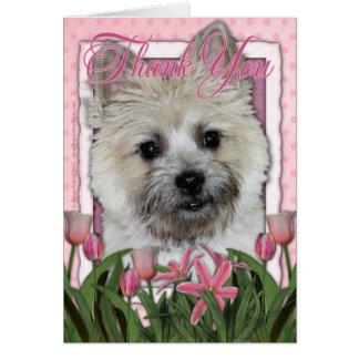 Cartão Obrigado - monte de pedras Terrier - Teddy_Bear