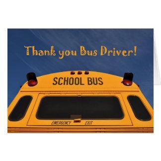 Cartão Obrigado motorista de auto escolar, auto escolar