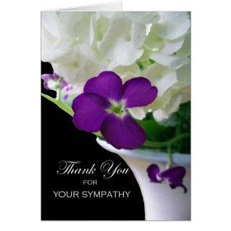 Cartão Obrigado para a simpatia, Hydrangea, estoque